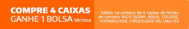 Promoção Compre 4cx Alcon Ganhe Bolsa Térmica
